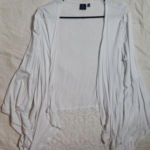 Kaari blue white lace large cardigan